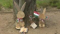Húsvéti díszítések a városban
